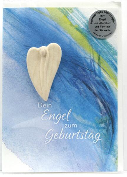Engelkarte - Dein Engel zum Geburtstag & Handschmeichler