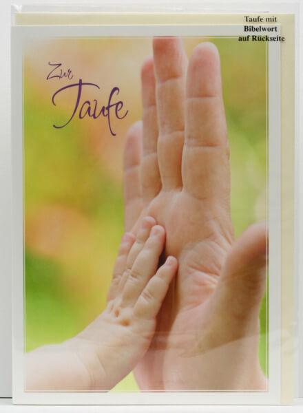 Taufkarte - Zwei Hände
