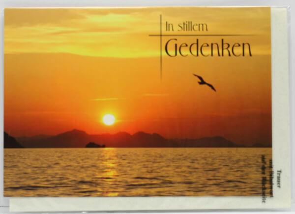 Trauerkarte - In stillem Gedenken & Sonnenuntergang
