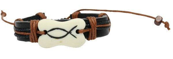 Armband - Leder & Fisch