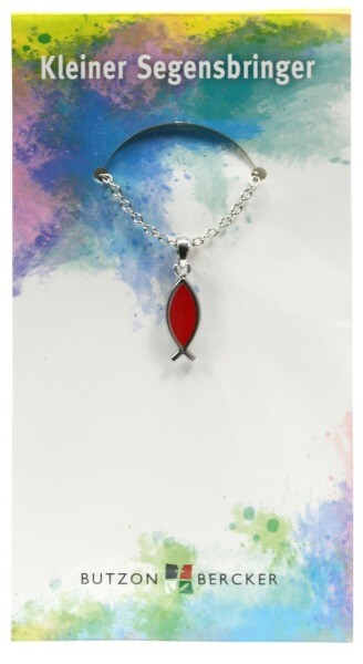 Halskette - Fisch & Rot