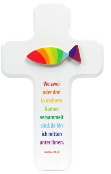 Kinderkreuz - Regenbogen-Fisch