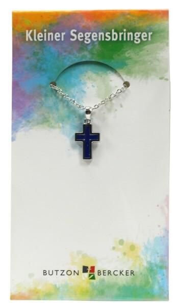 Halskette - Blaues Kreuz