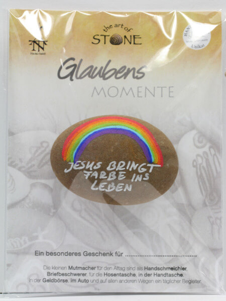 Stein-Handschmeichler - Jesus bringt Farbe ins Leben