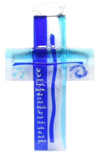 Glaskreuz - Dich zu behüten & Blautöne