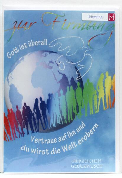 Karte zur Firmung - Gott ist überall