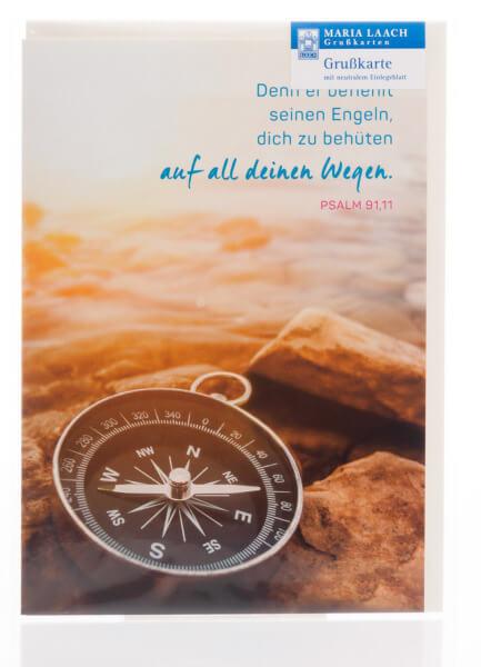 Neutrale Karte - Auf all deinen Wegen & Kompass