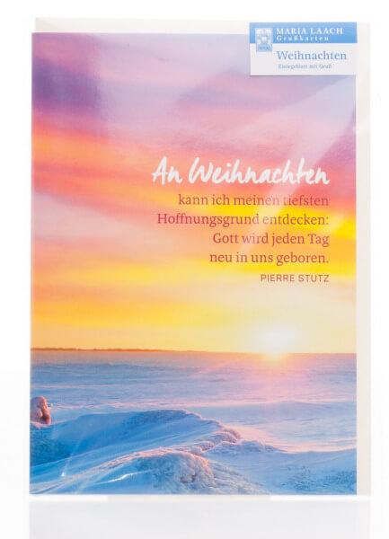 Weihnachtskarte - Gott wird jeden Tag neu in uns geboren