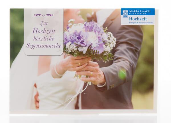 Karte zur Hochzeit - Brautstrauß