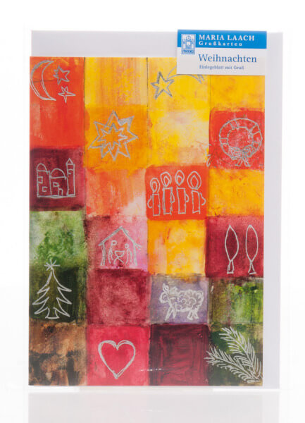 Weihnachtskarte - Weihnachtssymbole & Höcker
