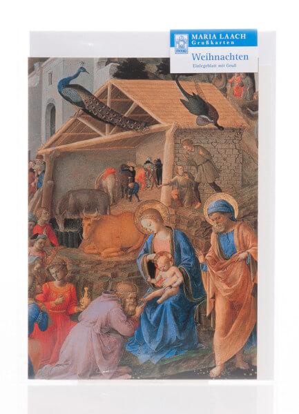 Weihnachtskarte - Anbetung der Könige & Fra Filippo Lippi