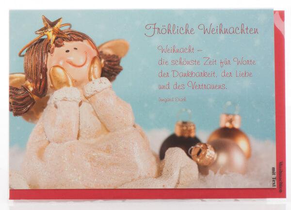 Frohe Weihnachten F303274r Kunden.Weihnachtskarte Weihnachten Die Schonste Zeit Artikel Nr 261 312