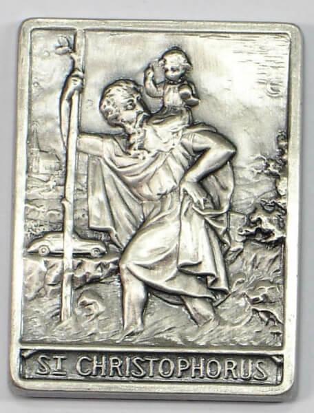 Christophorus-Plakette - Rechteckig