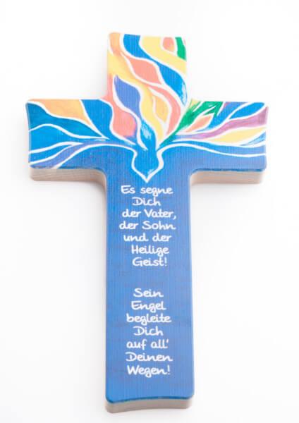 Holzkreuz - Taube & Gott segne dich