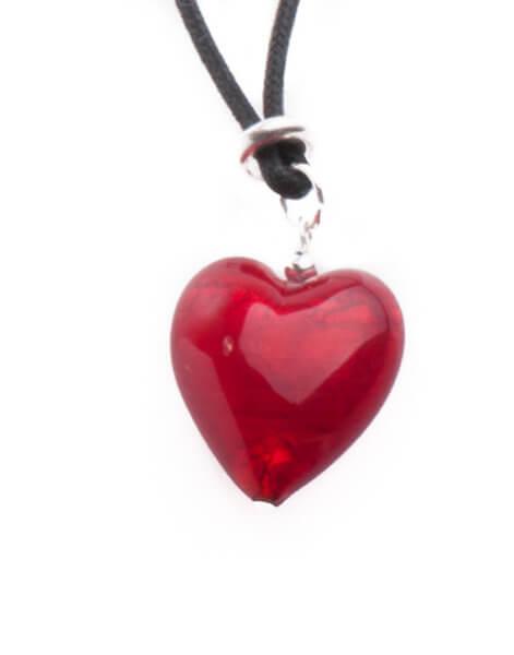 Halskette - Murano-Herz