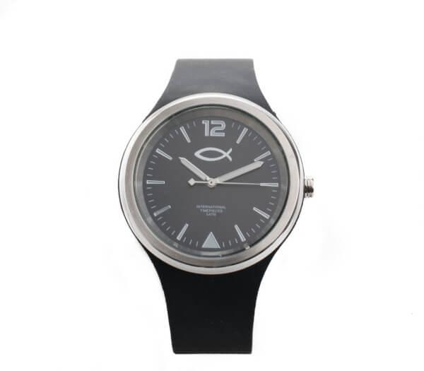 Armbanduhr - Farbiges Silikonband & Fisch-Symbol