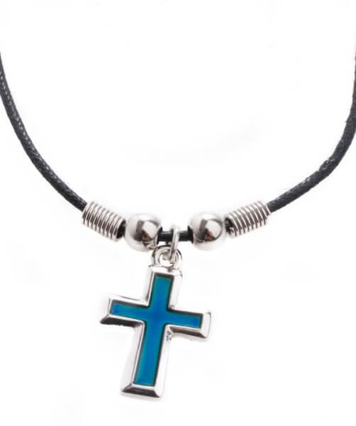 Halskette - Kreuz & Farbwechsel