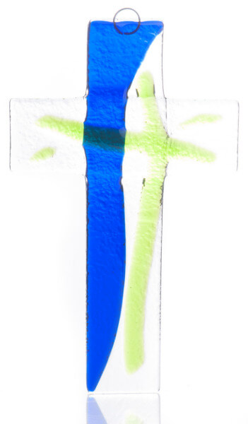 Glaskreuz - Blau- & Grüntöne