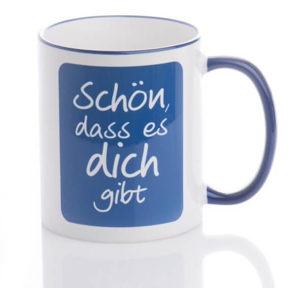 Tasse - Schön, dass es dich gibt & Blau