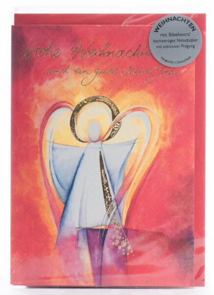 Weihnachtskarte - Der Herr befiehlt seinen Engeln...