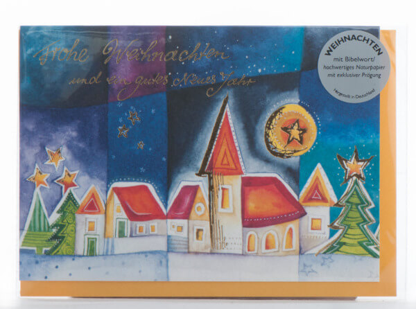 Weihnachtskarte - Der Herr blickt herab vom Himmel