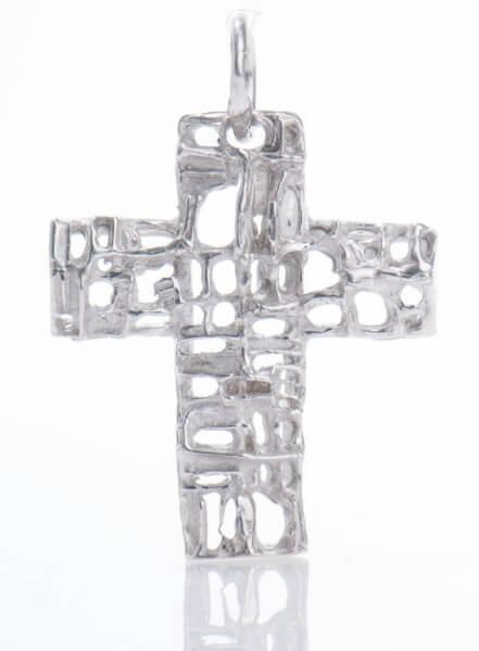 Silber-Anhänger - Kreuz & Durchbrochen