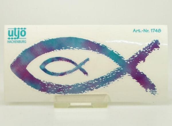 Aufkleber - Fisch & Blau Gefleckt