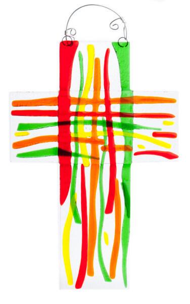 Glaskreuz - Streifen & Regenbogenfarben