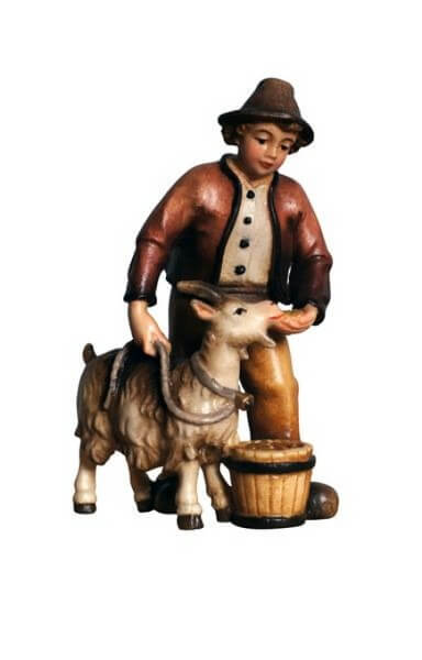 Kostner-Krippe - Junge mit Ziege