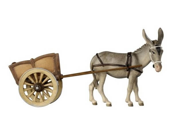 Kostner-Krippe - Esel mit Karren