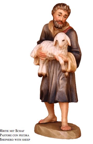 Karl-Kuolt-Krippe - Hirte mit Schaf