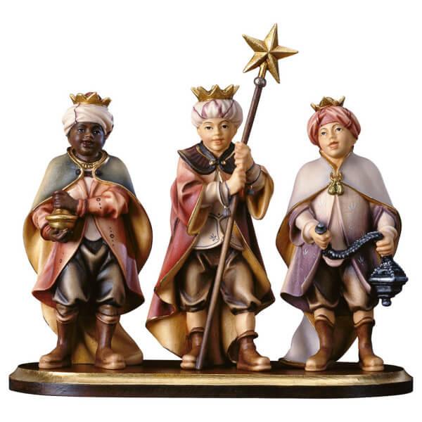 Hirten Krippe - Drei Sternsinger auf Standkonsole-4 Teile