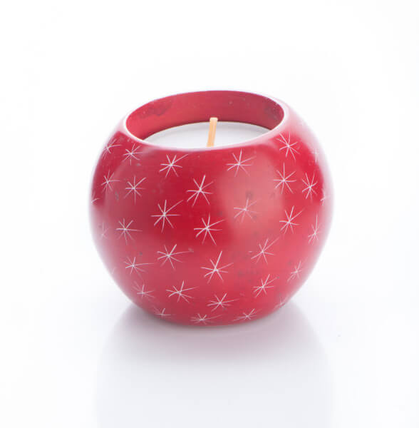 Weihnachtsleuchter - Stern & Rot