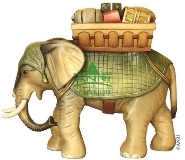 Karl-Kuolt-Krippe - Elefant mit Gepäck