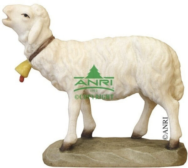 Karl-Kuolt-Krippe - Schaf mit Glocke