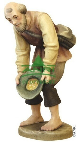 Karl-Kuolt-Krippe - Hirte bückend mit Hut