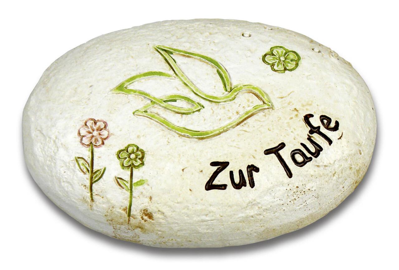 Geschenk-Stein - Zur Taufe & Taube