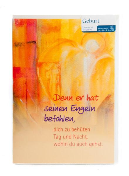 Karte zur Geburt - Schutzengel & Höcker