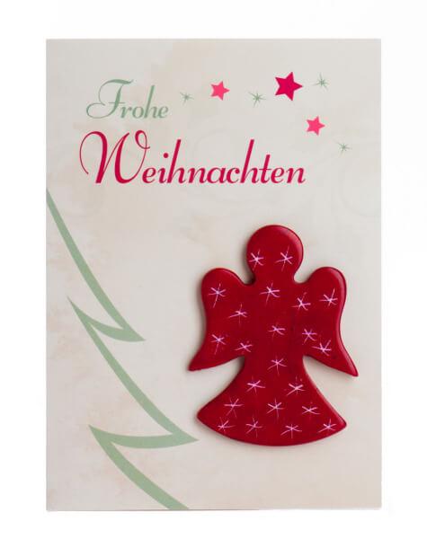 Weihnachtskarte - Speckstein-Engel & Frohe Weihnachten