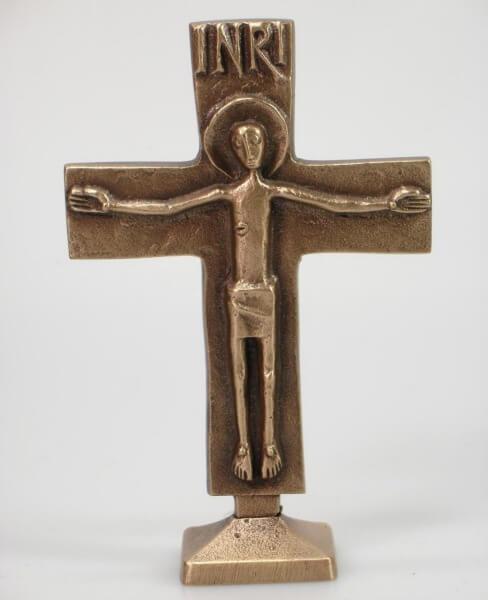 Stehkreuz - Bronze & Klein