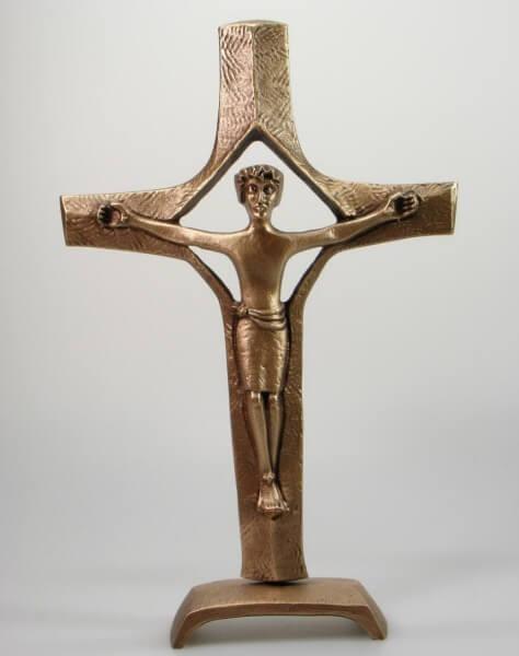 Stehkreuz - Bronze & Viereck