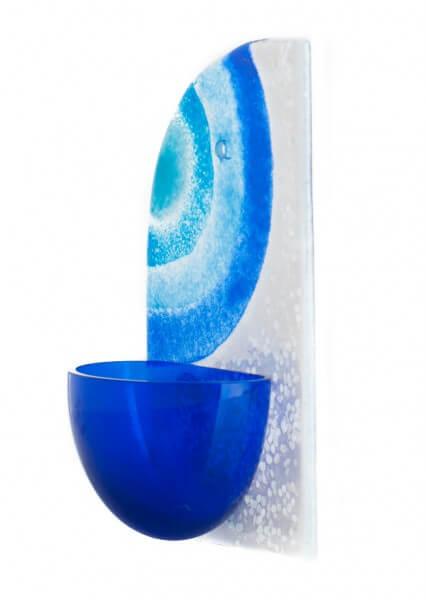 Weihwasserbecken - Kreise & Blau