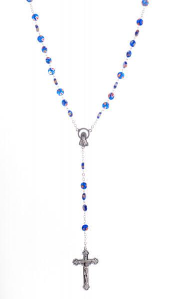 Rosenkranz - Blumenmuster & Blau
