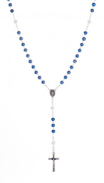 Rosenkranz - Handbemalte Glasperle & Blau
