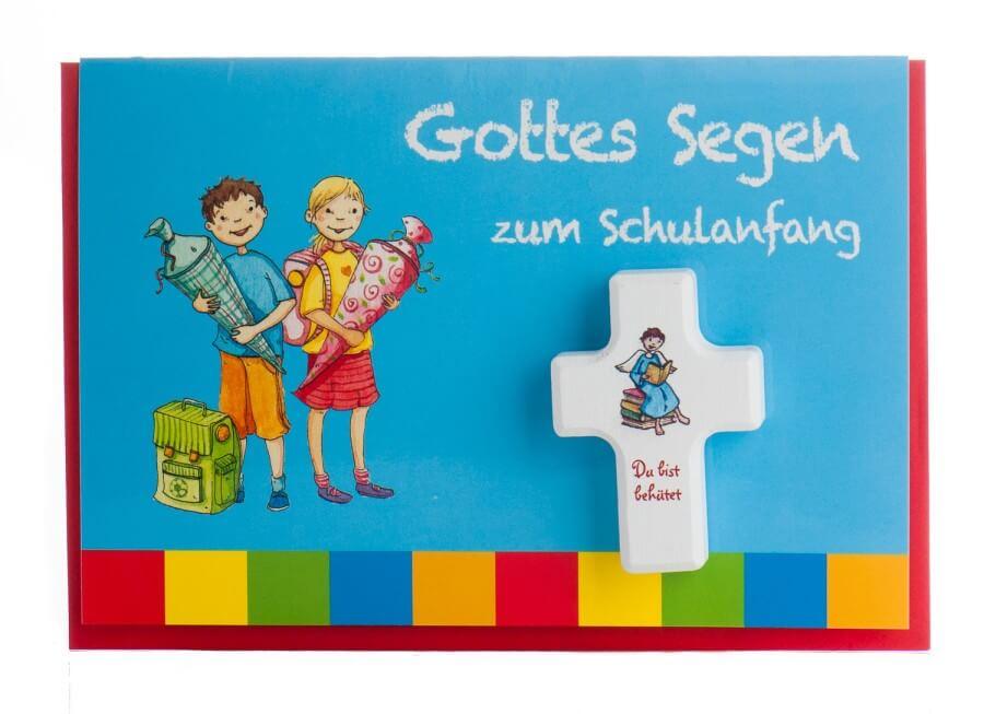 Karte zum Schulanfang - Gottes Segen & Handschmeichler