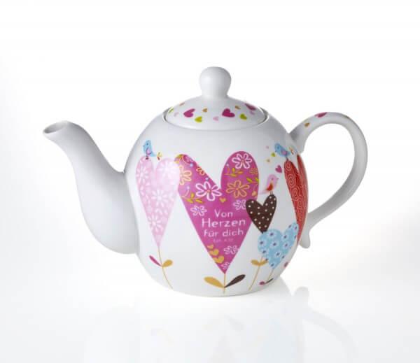 Teekanne - Von Herzen für dich