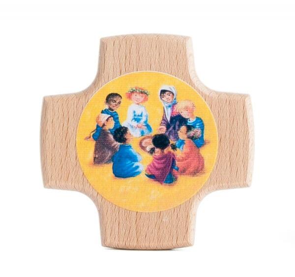 Kommunionkreuz - Kinder der Welt beim Mahl