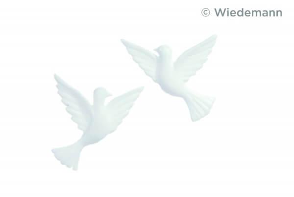 Kerzenverzierung - Taubenpaar