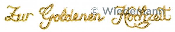 Kerzenverzierung - Zur Goldenen Hochzeit & Schreibschrift