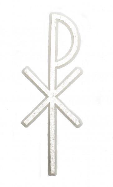 Wachssymbol - Schlichtes Chi-Rho